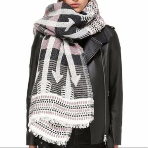 MACKAGE ARO SCARF/WRAP in White/Pink/Grey